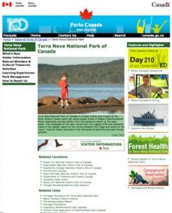 Parks Canada Screenshot